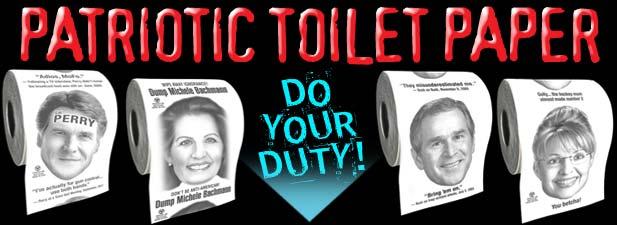 George Bush Toilet Paper, Patriotic Toilet Paper, Republican Toilet ...